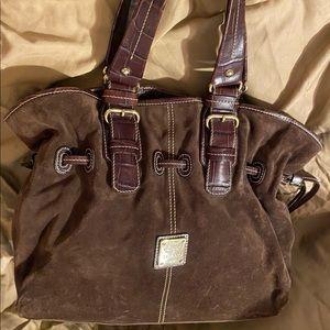Dooney and Bourke suede handbag